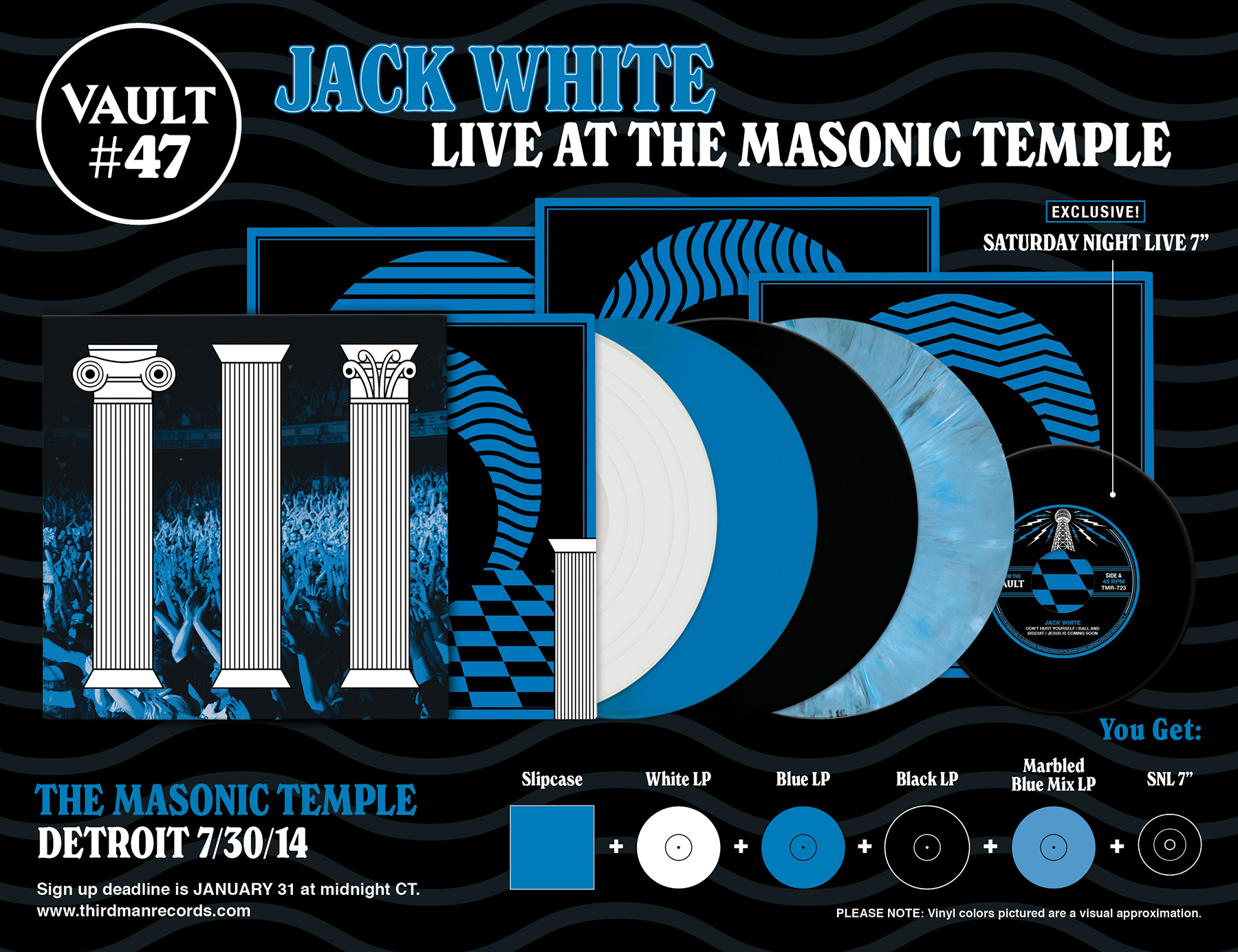 Vault 47 Jack White Live At the Masonic Temple